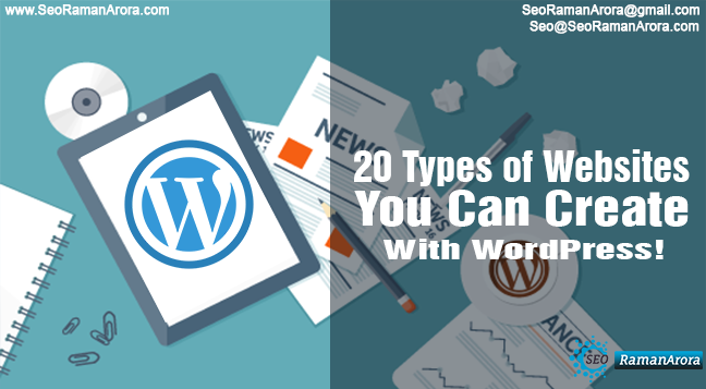 20 types of websites you can create with wordpress