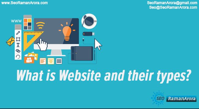 What is Website and their types?