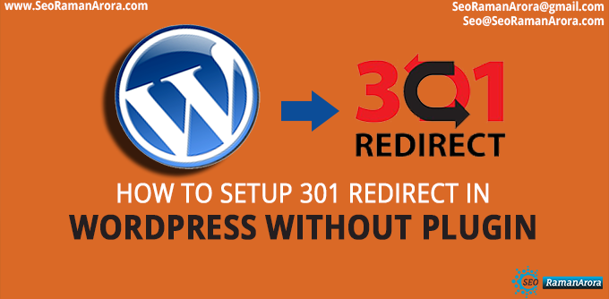 Setup 301 Redirect in WordPress Without Plugin
