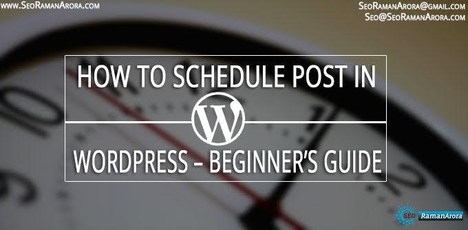 Schedule Post in WordPress