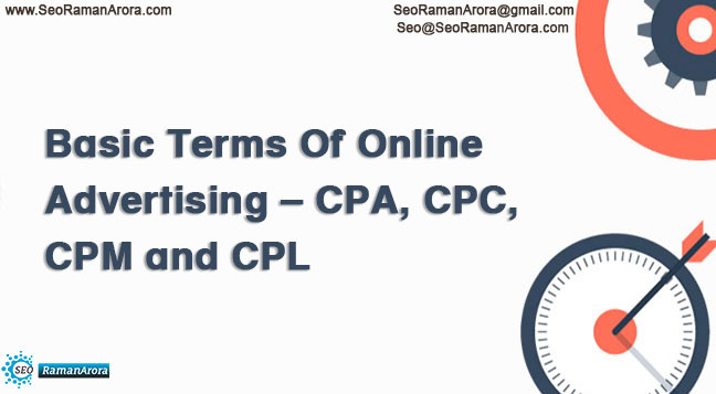 Online Advertising – CPA, CPC, CPM and CPL
