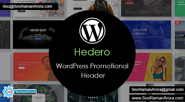 Hedero – Wordpress Promotional Header
