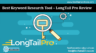 Best Keyword Research Tool - LongTail Pro Review