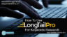 LongTail Pro For Keywords Research