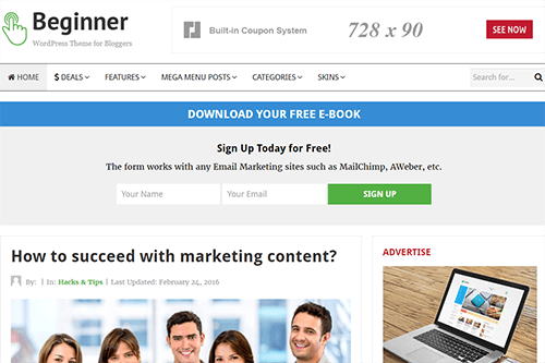 Beginner Blog Theme-Junkie
