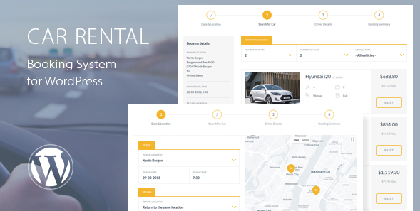 Car Rental Booking System for WordPress