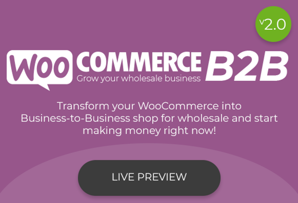 WooCommerce Business to Business Plugin