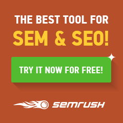 SEMRush: Competitor Analysis and Keywords Research Tool