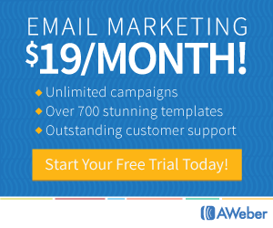 Aweber Unlimited Email Marketing only in $19/Month