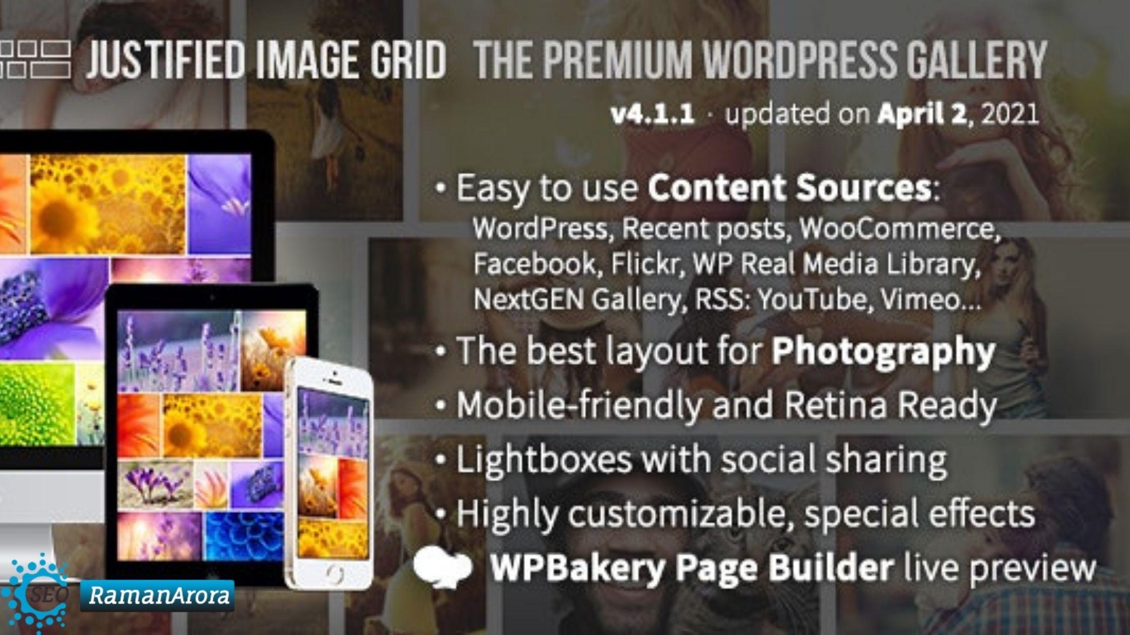 Justified Image Grid Review - Premium WordPress Gallery Plugin for Portfolio