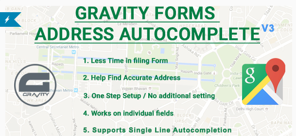 Gravity Forms Address Autocomplete – Google API Address Plugin