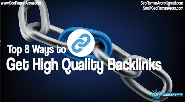 Ways to Get High Quality Backlinks