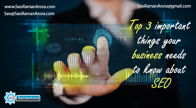 Top 3 important things Your Business Needs to Know about SEO